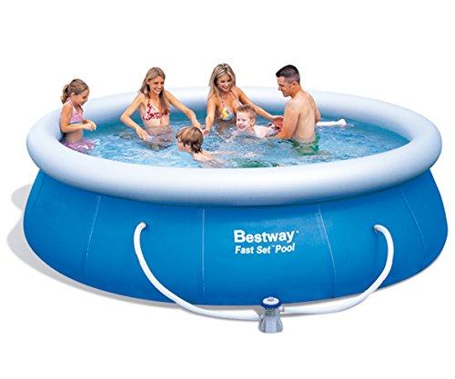 Preisvergleich Produktbild Bestway 57166 Fast Set Pool mit Filterpumpe NL,  366 x 91 cm