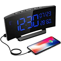 Mpow Digital Bedside Alarm Clock with Indoor Temperature Humidity Monitor, Dual Alarms, 3 Changeable Ringtones, Snooze Function, Calendar, Date, Day of Week, for Home, Office, Perfect for Gift