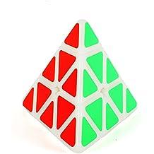 Maomaoyu 3x3x3 Pyraminx pirámide triángulo Cubo de Rubik(beige)