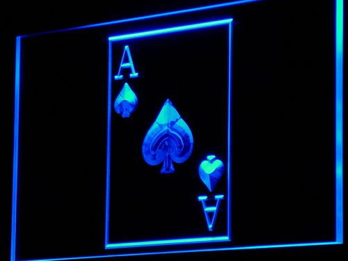 Enseigne Lumineuse i846-b Ace Poker Casino Display Game NR Neon Light Sign