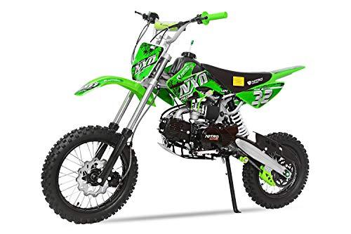 Dirtbike NXD M14 14/12 125cc 4-Gang Manuell Kickstarter Bike Atv Quad Pocket Cross (Grün)
