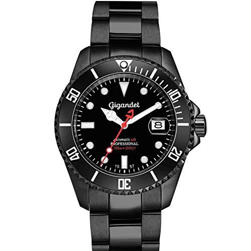Gigandet Herren Uhr Analog Automatik mit Edelstahl Armband G2-006