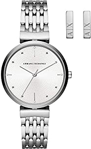 Armani Exchange Zoe Women's Silver Dial Stainless Steel Analog Watch - AX
