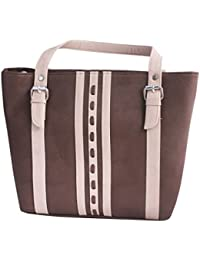 Tickles Brown Fashion Synthetic Leather Womens Hand Bag