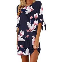 Vestido de verano de mujer, Dragon868 Las mujeres jóvenes florales bowknot cóctel mini vestido casual playa vestidos