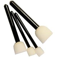Stupf-Pinsel, 4er Set | 25 mm, 20 mm & 2 x 15 mm | Schwammpinsel, Tupfpinsel, Stupfschwamm, Schablonierpinsel