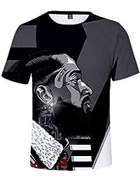 ZRJRJ 2pac Camiseta Hombre Tupac Makaveli Camiseta Rapper Biggie Smalls Snoop Dogg Eminem Jay-z J Cole 21 Savage Camiseta Hip Hop…