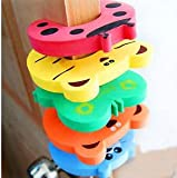 SLB Works 5PCS Child Kids Door Jammers Stop Stopper Safety Finger Guard Protector Home AHY