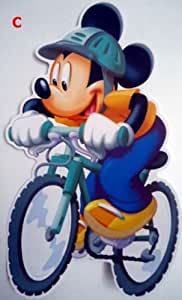 """Disney Mickey Mouse Minnie bike 15"""" Clubhouse Wall Sticker Baby Kids Nursery Home/Room Decors Mural Art Decals Adhesive Decorative"""