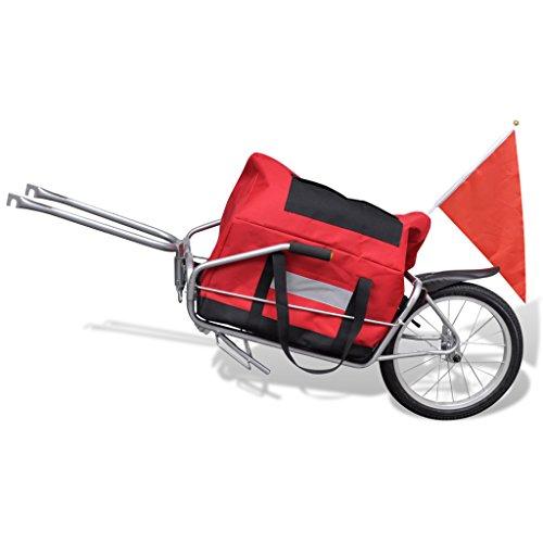Festnight Remolque De Bicicleta Con Bolsa De Almacenamiento