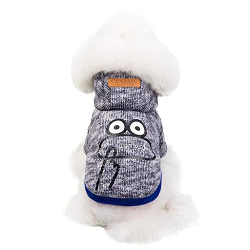 Mädchen Jacke Kostüm Pudel - Cuteelf Pet Kleidung Mode Haustier Hut Mantel Herbst und angenehm warm zu halten Katzen- und Hundekleidung Wintermode warme Jacke kalte Baumwollkleidung