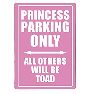 "Metallschild mit Aufdruck ""Princess Parking Only"" A4"