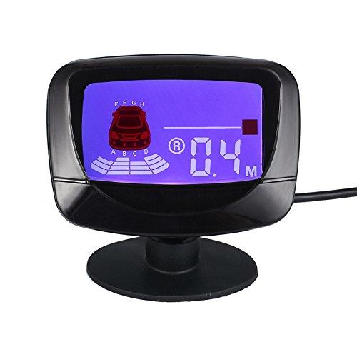 Silber Parken Rückfahr Umkehrradar Auto 4 Sensoren Kit Radar LED Anzeige Summer-Alarm Car Parking Sensor -