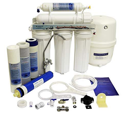 finerfilters Domestic Home Selbsteinbau 5Stufen Umkehrosmose System mit Fluorid Entfernung (50gpd), für die sehr Beste Trinkwasser -