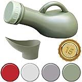 Medipaq® Unisex tragbares Urinal Auslaufsicher dicht – Ideal für Autoreisen, Camping, Wohnwagen, Festivals, Kinder, Ältere (1 Urinal – Armee grün) – Neues 2019 Modell