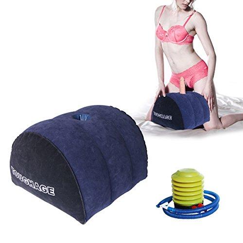 DACHMA Sex Aufblasbar Kissen mit Loch für Massage Stick Sex Lendenkissen 38x32x22 Zentimeter Geschenk: Aufblasbare Ausrüstung