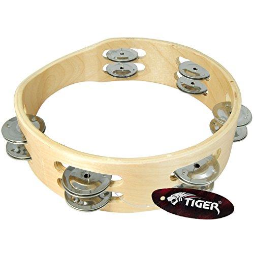 """Tiger TAM84-08 Kopfloser Tambourin - Doppel Schellenring - 8\"""""""
