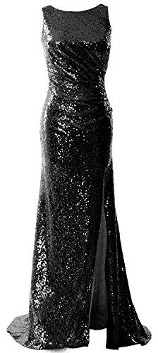 MACloth -  Vestito  - linea ad a - Senza maniche  - Donna Black 52