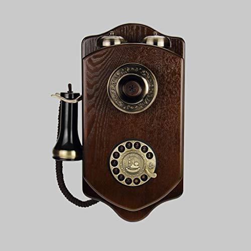 SMBYLL Wandtelefon, altmodische drehbare WLAN-Karte, Festnetztelefon mit Kabel Festes Telefon