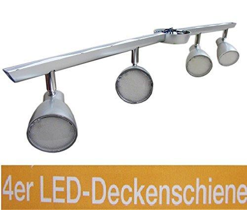 4er LED-Deckenschiene 81,5 x 11,5 cm hohe Lichtleistung