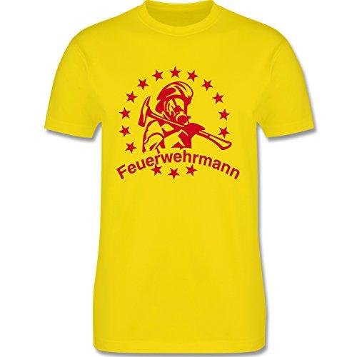 Feuerwehr - Feuerwehrmann - Herren Premium T-Shirt Lemon Gelb