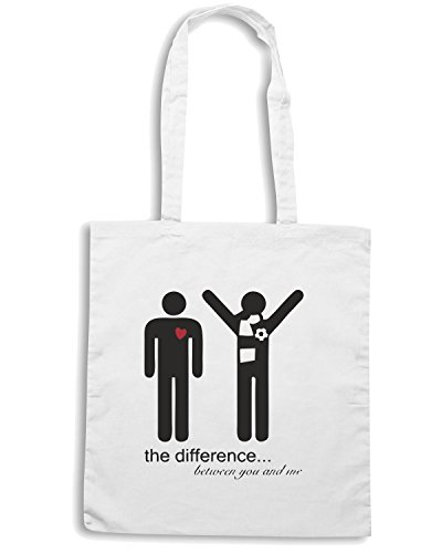 T-Shirtshock - Borsa Shopping WC0591 the difference Bianco
