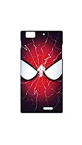 Spide Man Face Painting With White Eye Case For Lenovo K900