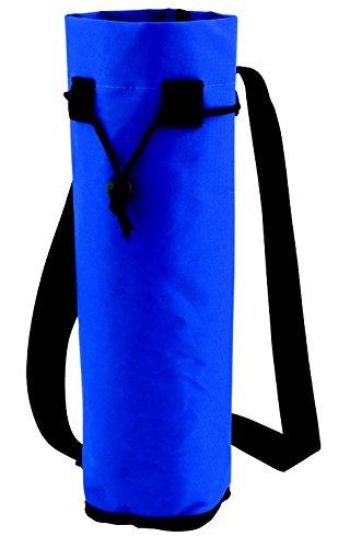 Flaschenkühler / Flaschentasche mit Gurt für Flaschen bis Grösse 1.5l Polyester blau
