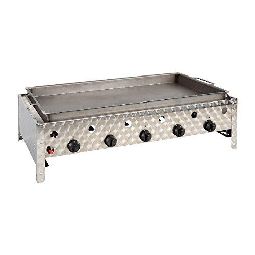 Gasbräter 5-flammig (20 kW) mit Stahlpfanne Gasgrill Gasbräter Grill