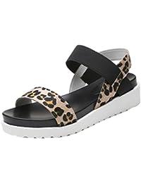 Sandalias de moda Sandalias planas de cuero envejecidas de las mujeres Zapatos de mujeres Sandalias casuales de verano LMMVP