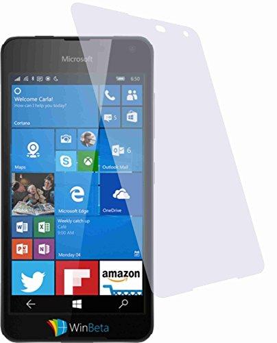 4ProTec 2 Stück HARTBESCHICHTETE KRISTALLKLARE Bildschirmschutzfolie für Microsoft Lumia 650 Displayschutzfolie