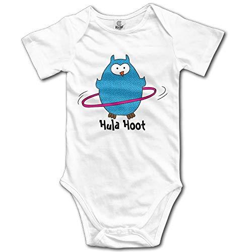 Hula Kostüm Boy - TKMSH Hula Hoot Owl Boy's & Girl's Short Sleeve Jumpsuit Outfits White