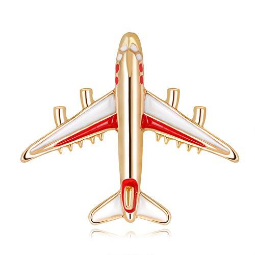 Kanggest Damen Brosche Schöne Legierung Flugzeuge Form Brosche Anstecknadel Anstecker Pins Brooch Geschenk Schmuck Zubehör Mantel Hemd Deko Brooch