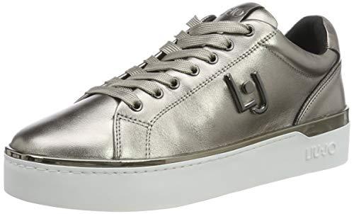 Liu Jo Shoes Silvia 01 Sneaker, Scarpe da Ginnastica Basse Donna, Multicolore (Metallic Pewter 00572), 38 EU