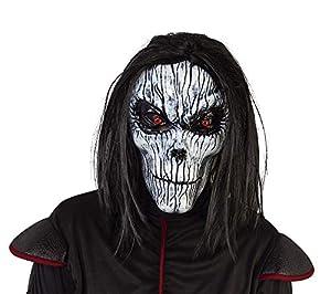 Haunted House- Esqueleto Máscara Skeleto Poseso Con Peluca (Rubies S5152)