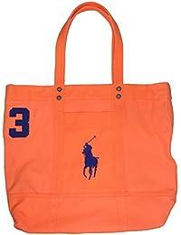 74431a5b147 Polo Ralph Lauren tela di cotone Big Pony-Borsa con Zip, colore  melone