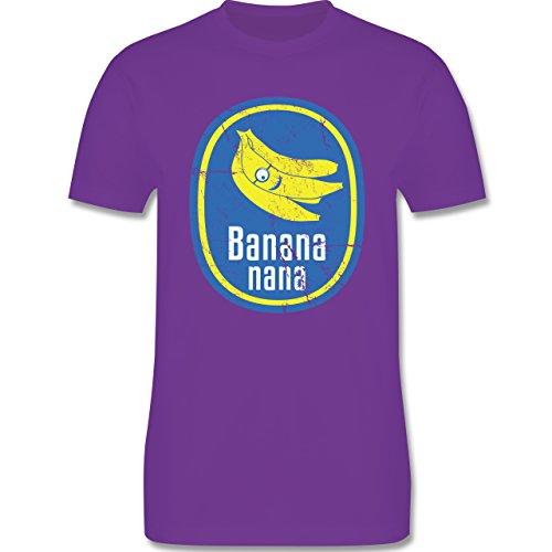 Comic Shirts - Banana nana Vintage - Herren Premium T-Shirt Lila