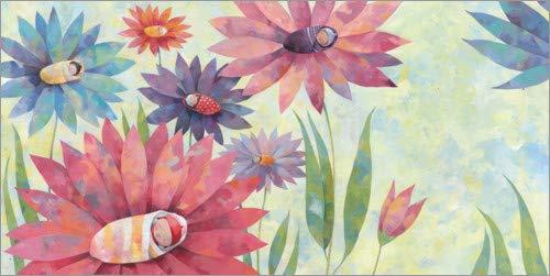 Poster 40 x 20 cm: Blumenkinder von Aurelie Blanz - hochwertiger Kunstdruck, neues Kunstposter -