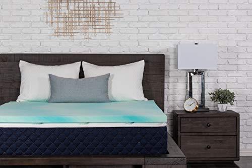l-Wirbel-Memory-Schaum-Auflage für Doppelbett, XL, Blau ()