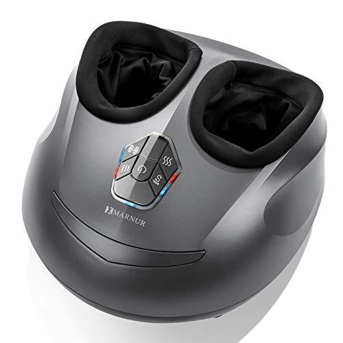 MARNUR Fußmassagegerät Elektrisches ShiatsuFußmassage Kneten mit Heißwalzen und Luftkompression für das Büro zu Hause (Wärme- / Luftkompression / Shiatsu kann separat verwendet werden)