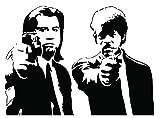 Kult Kanvas Sticker mural Motif Pulp Fiction par Banksy, noir, Grand modèle : 60cm x 81cm