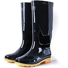 fedeba238bf023 H-Mastery Gummistiefel Herren Gefüttert Futter Warm Winter Halbhoch Hoch  Regenstiefel Arbeitsstiefel Wasserdicht Outdoor