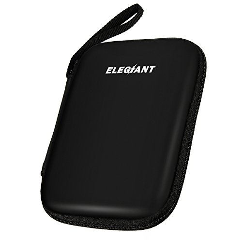 ELEGIANT Della Copertura del Sacchetto Custodia Antiurto Portatile per 6,35 cm GPS Hard Disk Drive Bag-Nero