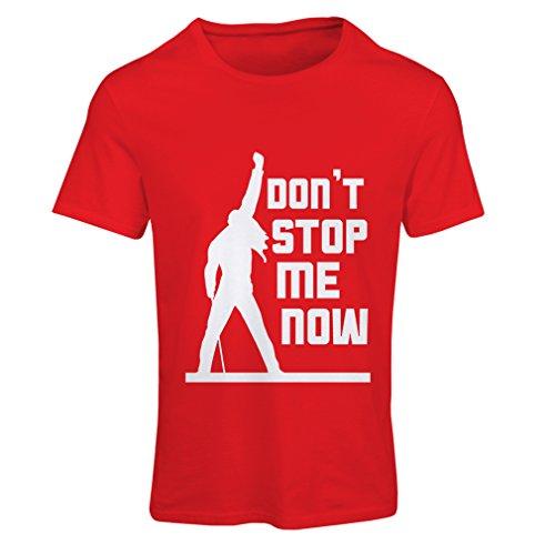 Frauen T-Shirt Don't Stop me! Fan shirts, musiker geschenke, rock kleidung (Small Rot - Halloween-ideen Musikalische