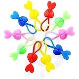 Merlina 20pcs colorido multifuncional silicona alimentos cierre Clip bolsas de plástico sellado abrazadera multiuso Cable Corbata Accesorios de cocina