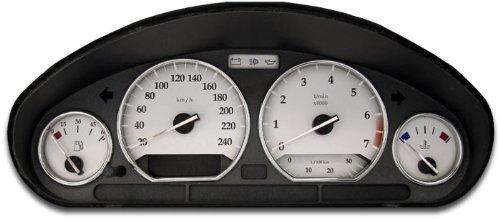 """Preisvergleich Produktbild Tachoscheiben """"Pure White"""" 3er E36 (1990 - 2000),  Anzeigewerte: 250 km / h / 7000 UpM / MIT Ecometer"""