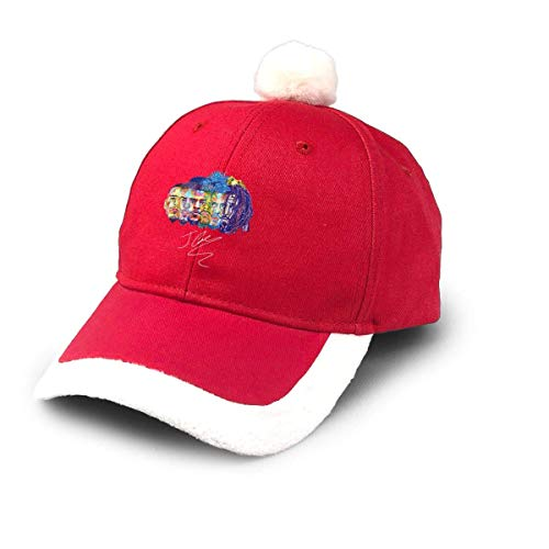 GGdjst Weihnachtsmützen, J-Cole KOD Logo Christmas Hats Red Santa Baseball Cap for Kids Adult Families Celebrate New Year Party