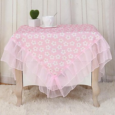 ZYT Rural Multi-purpose Towel Lace Tablecloth (60*60cm) , pink