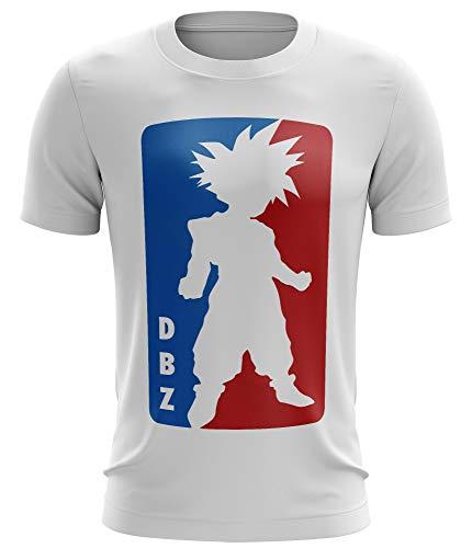 Stylotex Fitness T-Shirt Herren Sport Shirt DBZ Gym Tshirts für Performance beim Training | Männer Kurzarm | Funktionelle Sport Bekleidung, Größe:XL, Farbe:Weiss - Gym Dbz Tank