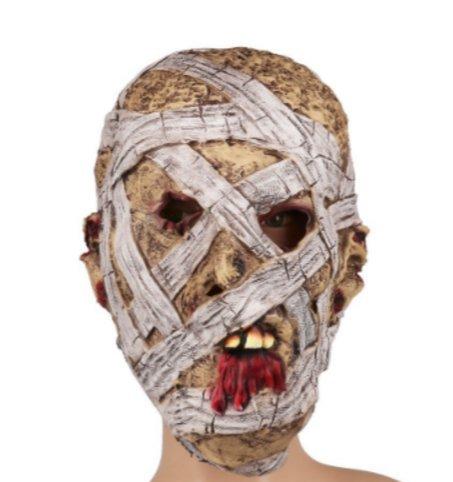 e Grusen Fasching One Size (Mumie Maske Halloween)
